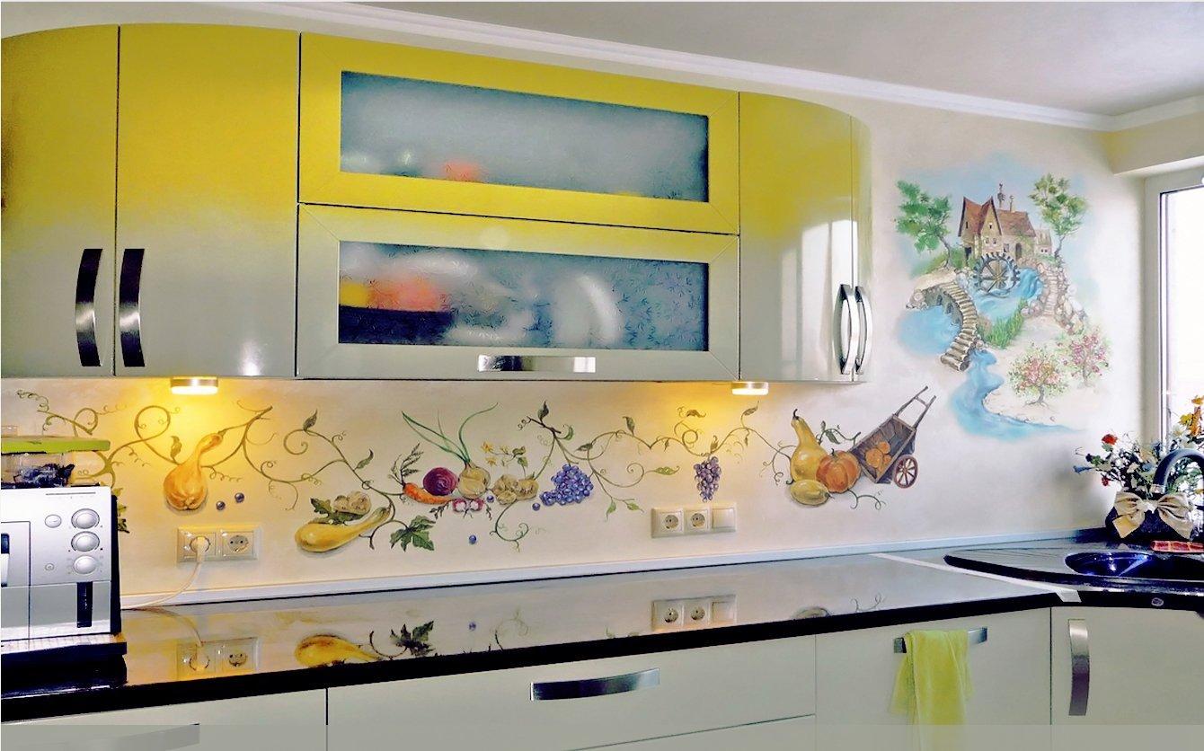 кухонный настенный фартук в виде узора фото
