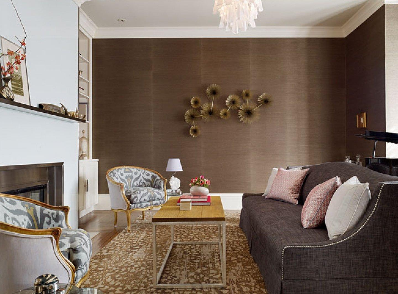 Шоколадный цвет в интерьере в классическом стиле