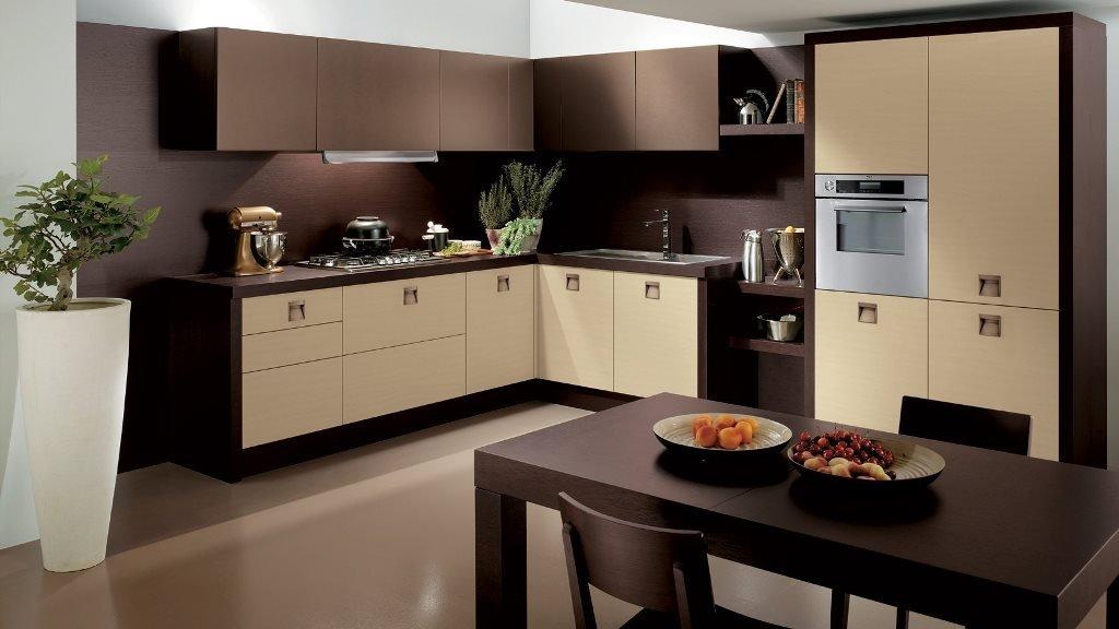 Кухня в шоколадном цвете