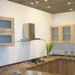 Белые стены в кухне