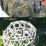 Обматываем шар нитками