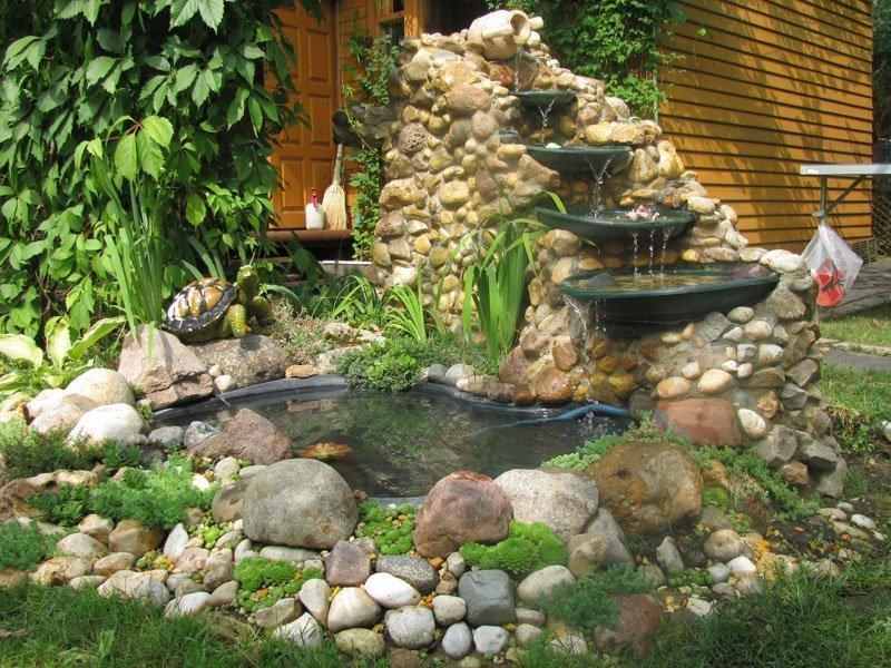 Декорирование водопада