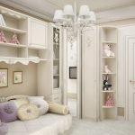 Классический дизайн спальни для девочки