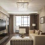 Интерьер двухкомнатной квартиры серии п44т в кофейных тонах