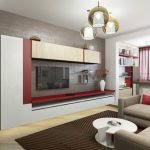 Шкафчики над телевизором