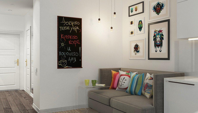 Светлые стены в интерьере кухни