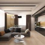 Элитный дизайн кухни-гостиной