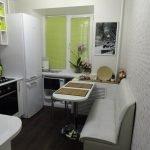 Небольшой диван для кухни в хрущевке
