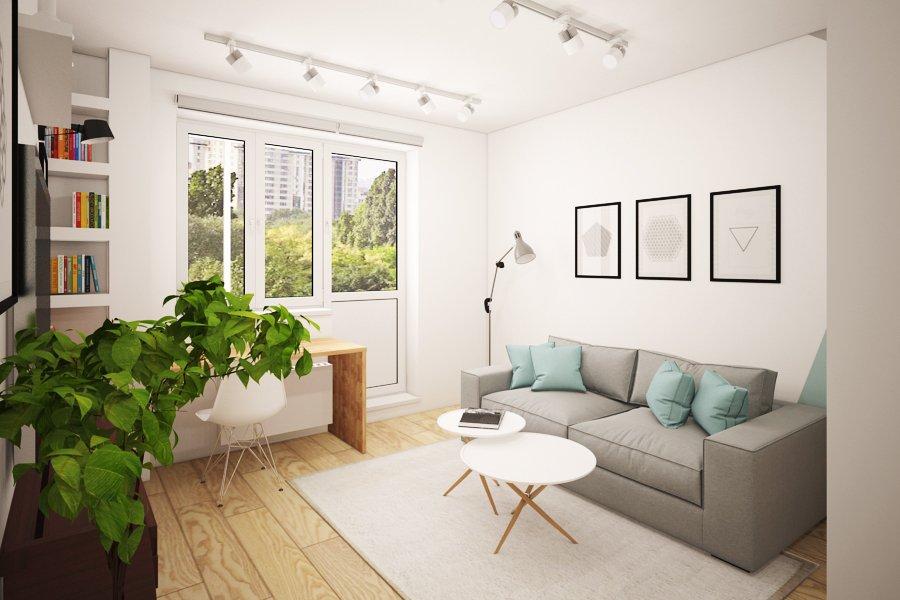 Интерьер однокомнатной квартиры п-44т
