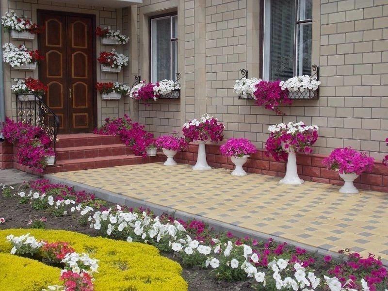 Оформление палисадника перед домом