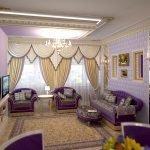 Роскошный дизайн зала