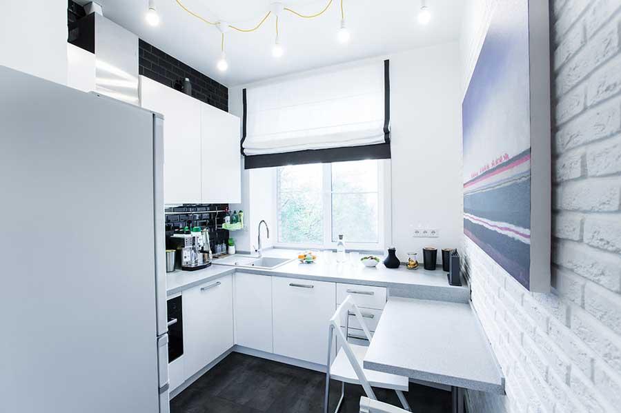 Размещение мебели на кухне 4 кв м