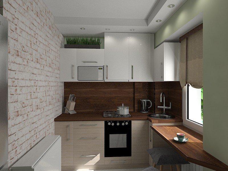 Светлая цветовая гамма в интерьере кухни 4 кв м