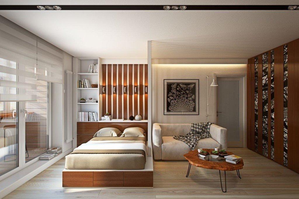 Визуальное расширение пространства однокомнатной квартиры 36 кв м