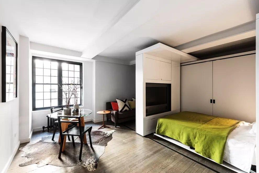 Зонирование однокомнатной квартиры 36 кв м