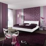 Лиловый цвет для дизайна спальни