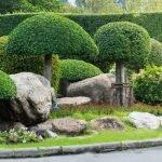 Крупные камни в саду