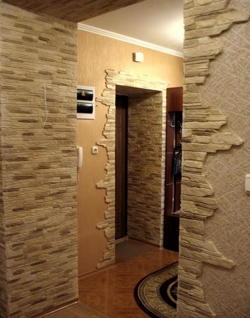 отделка дверных проемов декоративным камнем 50 фото примеров