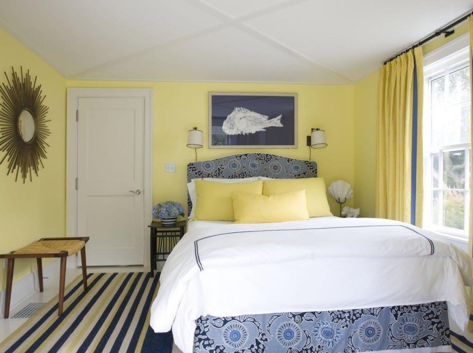 Гармоничное сочетание цветов в спальне