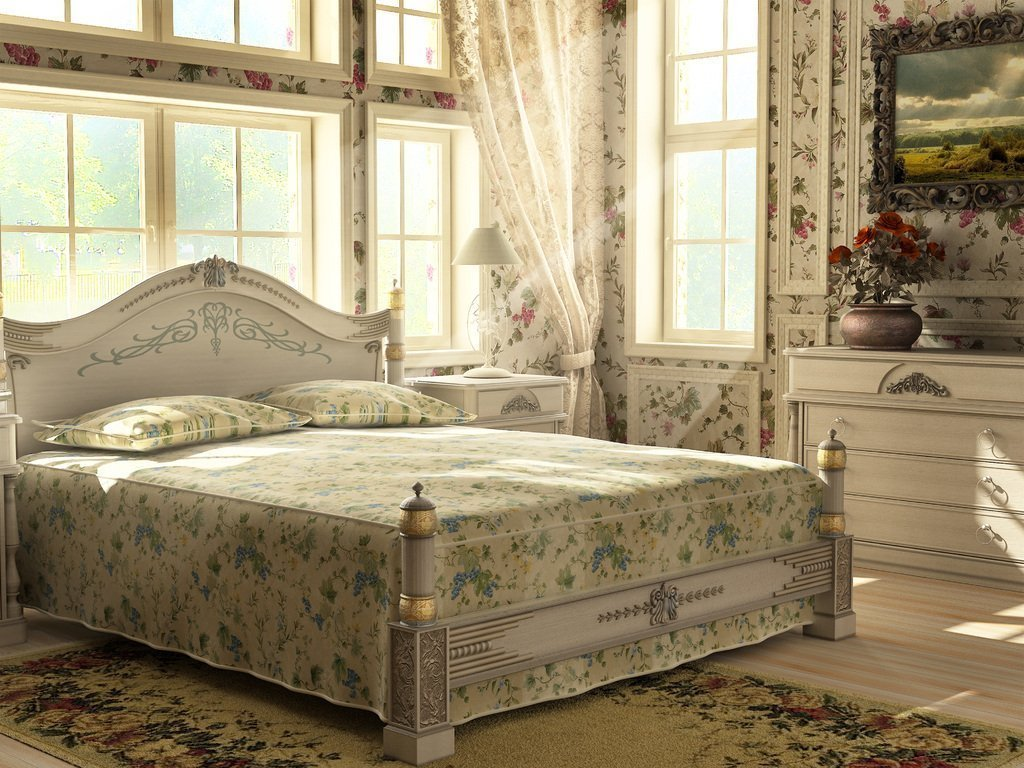 Спальня в ретро стиле