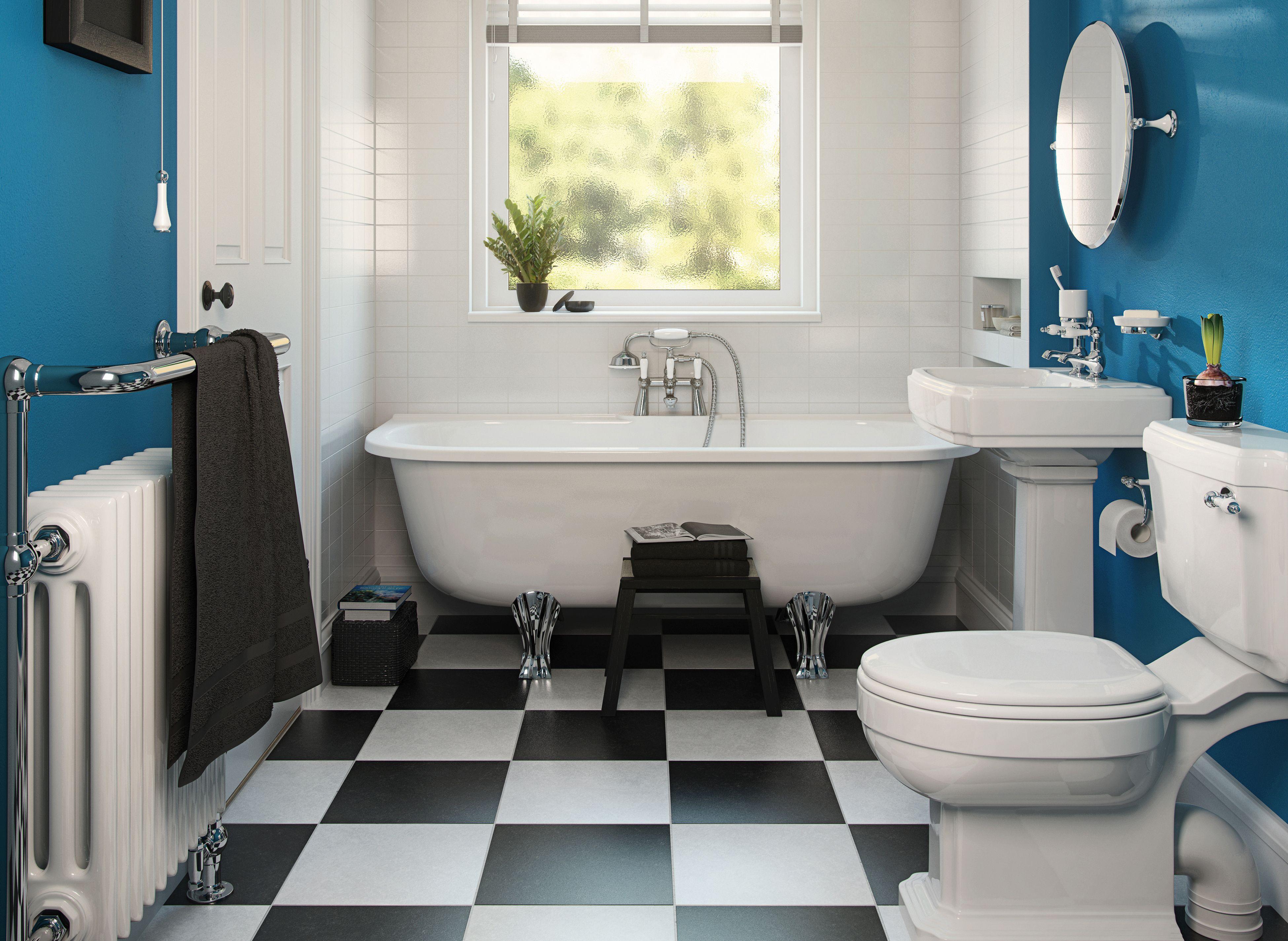 Контрастный интерьер ванной комнаты
