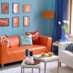 Холодные и теплые цвета в гостиной