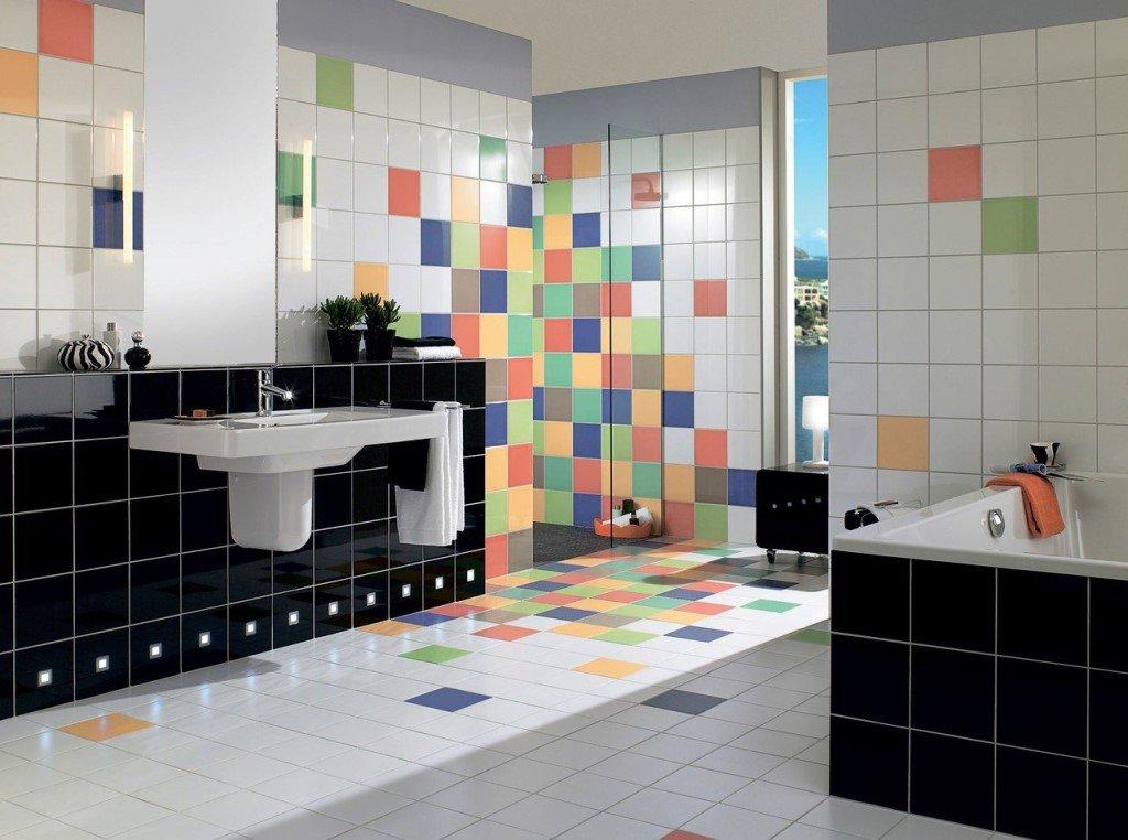 Модульная плитка в ванной