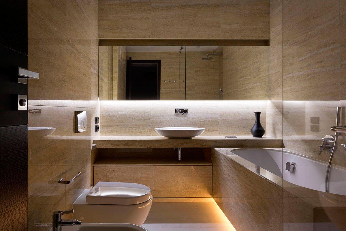 Плитка в интерьере современной ванной