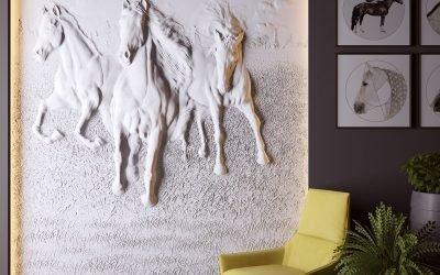 Барельефные изображения в интерьере квартиры