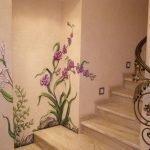 Элементы барельефа возле лестницы