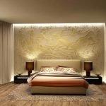 Кровать с двумя прикроватными тумбочками