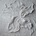 Барельеф большой цветок