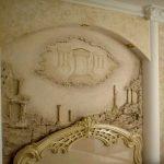 Барельеф в интерьере современной спальни