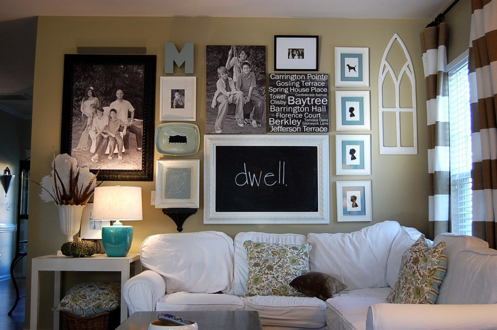 Декор над диваном