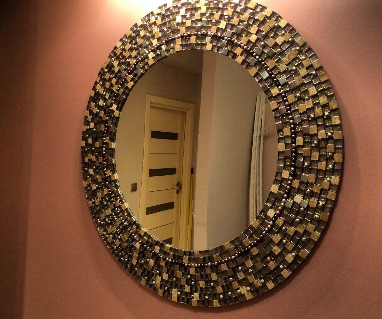 Декор зеркала мозаикой