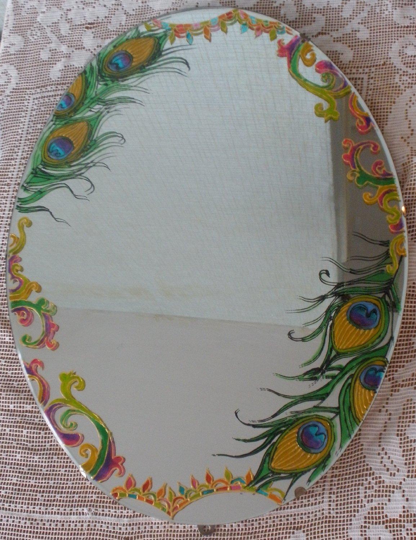 Роспись на зеркале