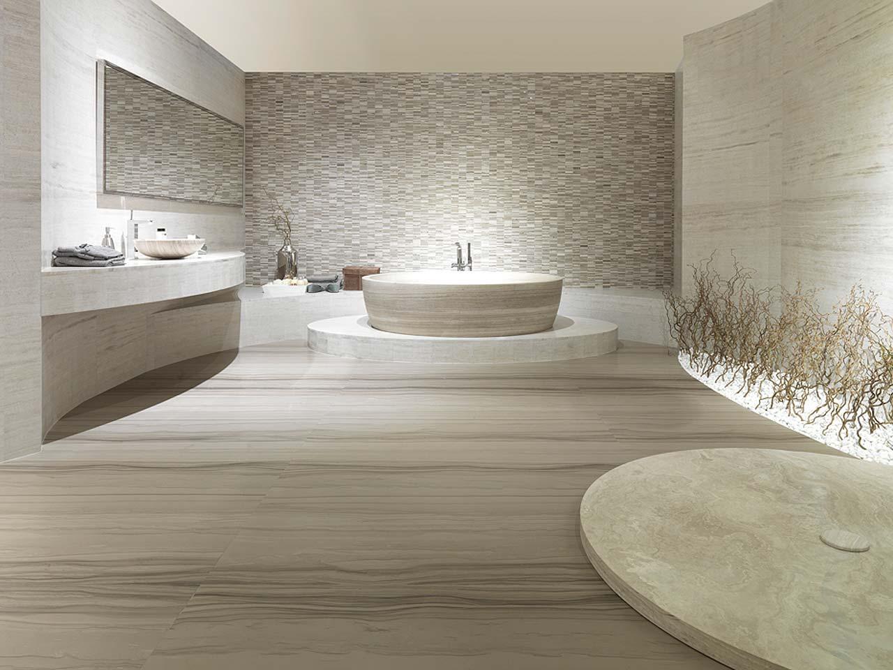 Отделка ванной натуральным камнем