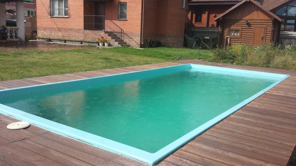 Прямоугольный бассейн на участке