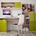 Зелено-белая мебель для гостиной