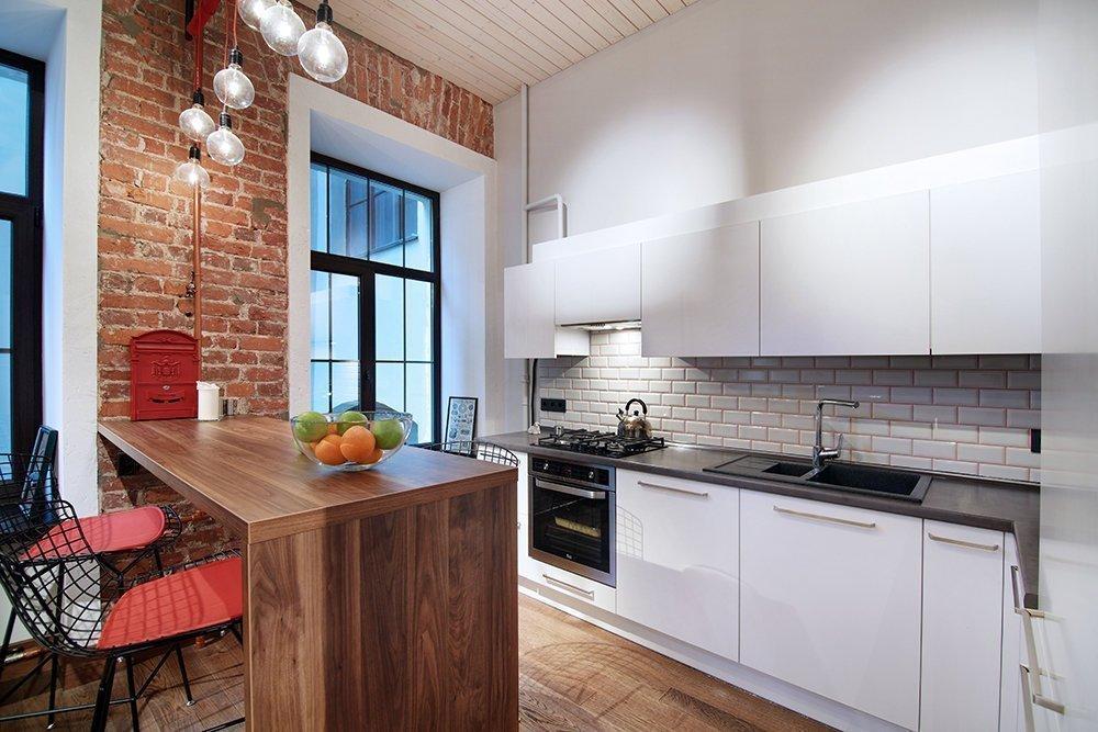 кухни в стиле лофт с кирпичом фото повлияет выходную мощность