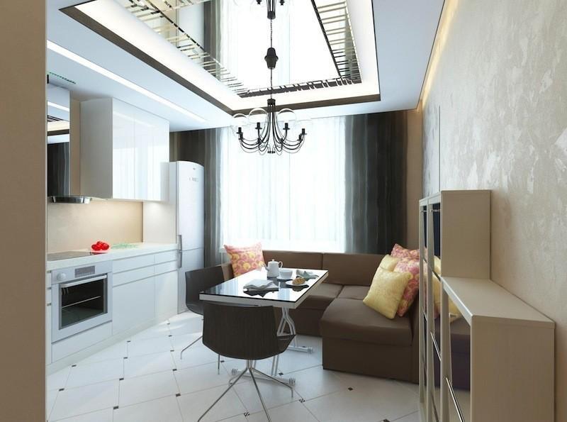 Квартира 45 кв м в стиле модерн