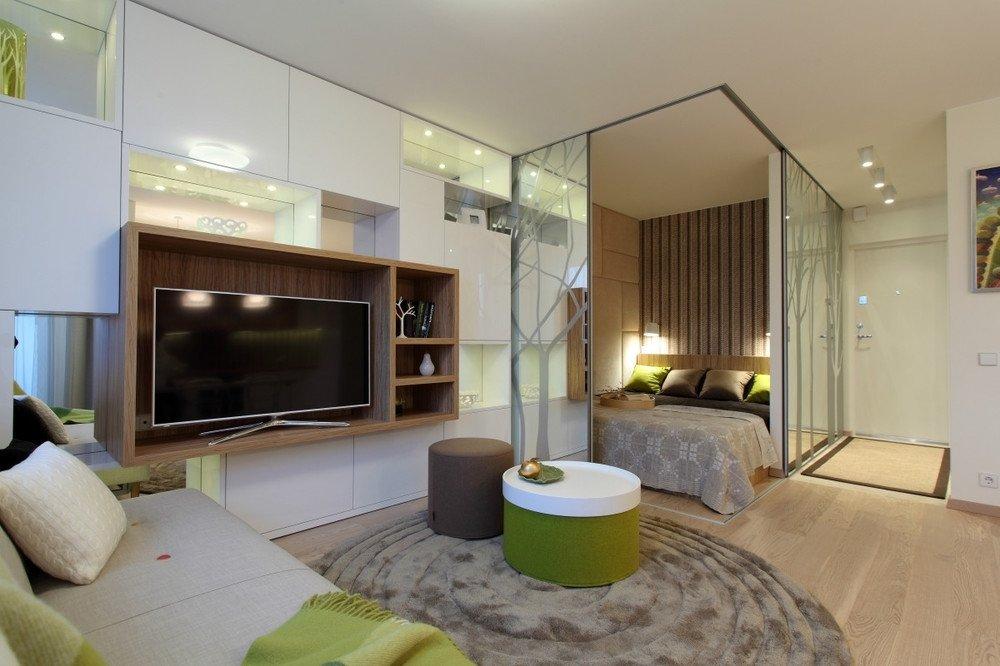 Спальня в квартире 45 кв м