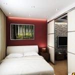 Встроенные светильники в спальне