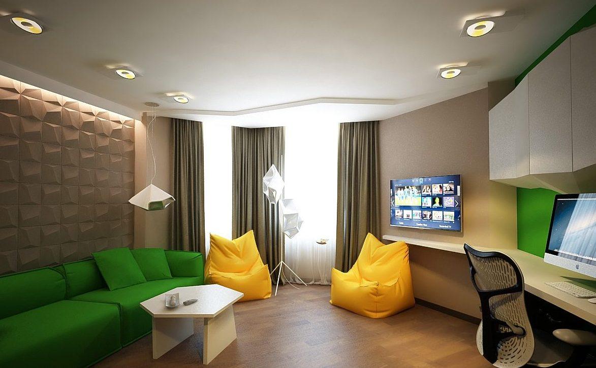 Жилая комната и кабинет