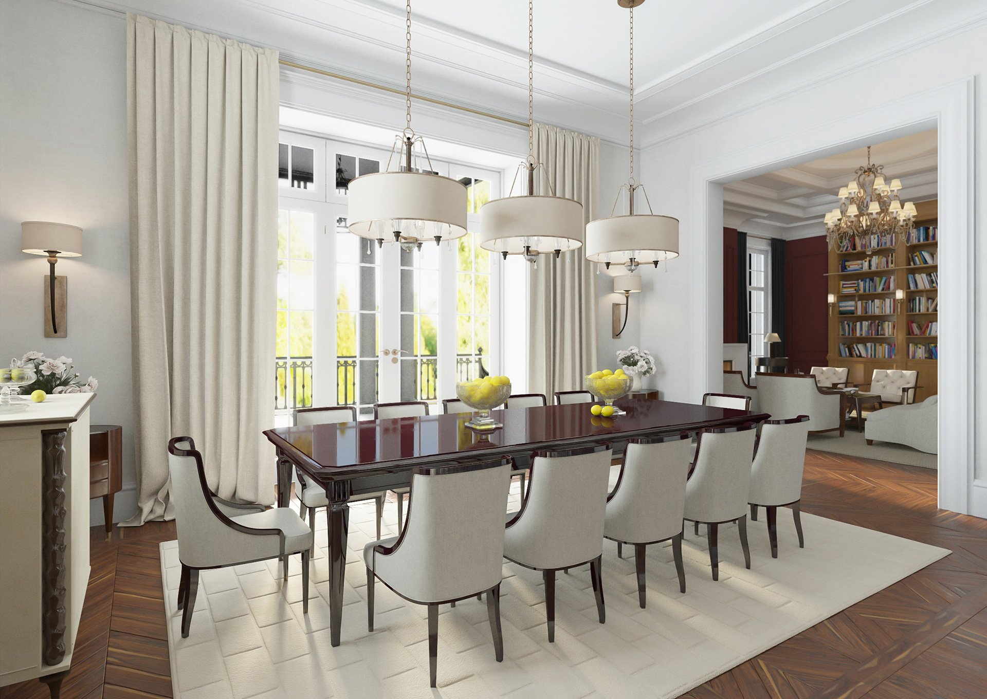 Dining area in a separate room