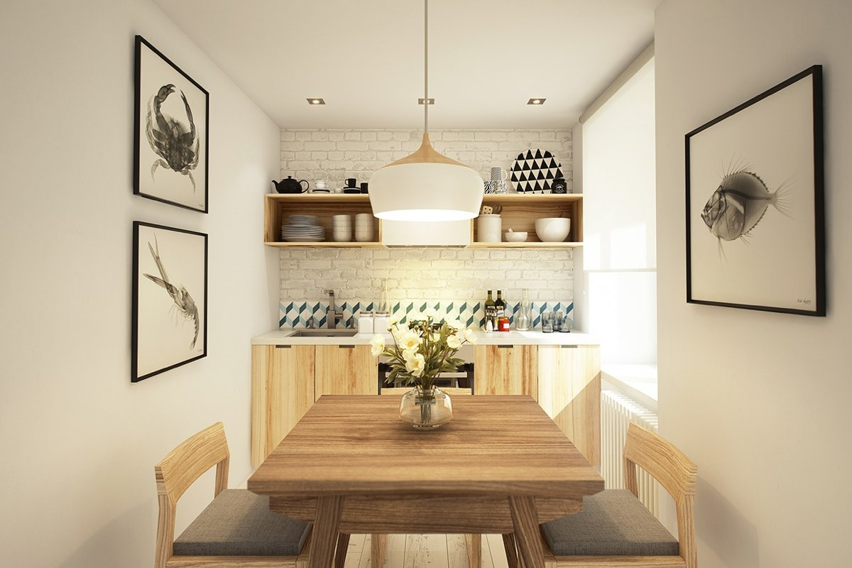 The design of the dining area
