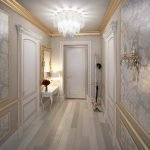 Интерьер гостиной в классическом стиле в светлых тонах
