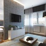 Сочетание черного фартука и белой мебели на кухне