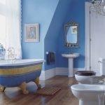Голубой в дизайне ванной