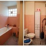 Вариант дизайн проекта для ванной в оранжевых тонах